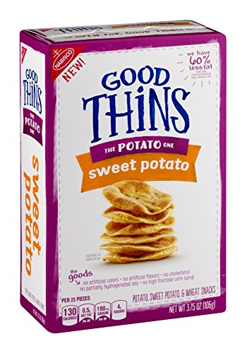 Nabisco, Good Thins, 3.75oz Box (Pack of 4) (The Potato One - Sweet Potato)