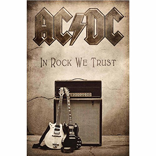 AC/DC In Rock We Trust new Official Textile Poster
