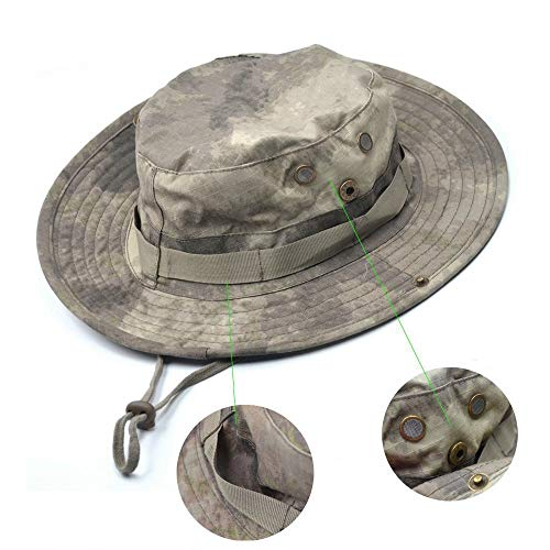 - Generic Blue Cell Tactical Head Wear/Boonie Hat Cap for Wargame, Sports, Fishing &Outdoor Activities (ACU Camouflage)