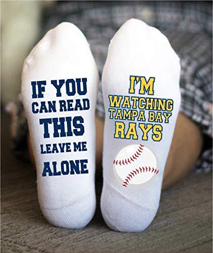 (Tampa Bay Rays Socks Funny Birthday Gifts Baseball Team)