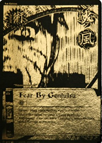 Naruto Gold Foil (Naruto Card - Fear by Genjutsu (Black and Gold) - Broken Promise - Super Rare - Foil - 1st Edition)