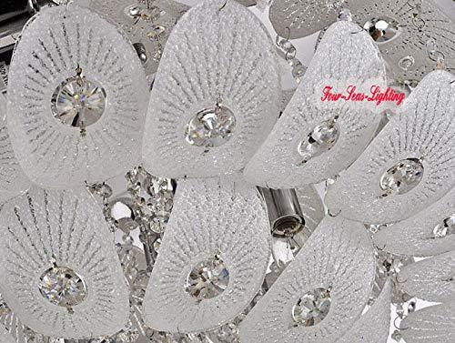 FidgetGear Modern K9 Crystal Chandelier Pendant Ceiling Lighting Living Room Pendant Lamp D50CM/19.7'' by FidgetGear (Image #9)
