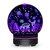 Team business 3D Aromatherapy Oil Diffuser,100ml Glass Essential Oil Ultrasonic Cool Mist Humidifier with 8 Color Changing LED Mood Lights (Deer)
