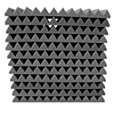 "12 Pack- Acoustic Panels Studio Foam Wedges 1"" X 12"" X 12"""