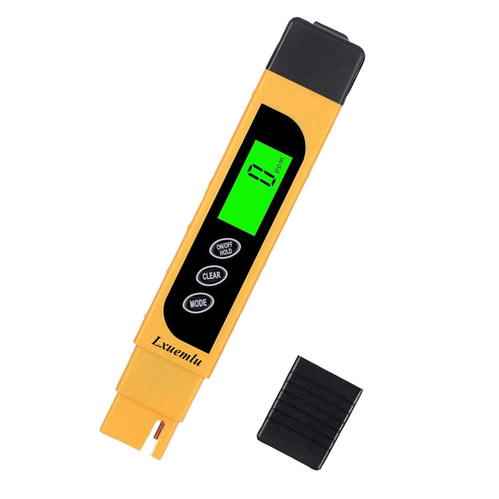 TDS Meter Digital Water Tester, Lxuemlu 3-in-1 TDS, Temperature and EC Meter with Carrying Case, 0-9999ppm, Ideal TDS Test Kit for Drinking Water, Aquariums and More