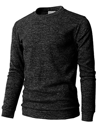 H2h Mens Uperstand Crewneck Sweater Sweatshirts Charcoal Us M Asia L  Kmttl0450