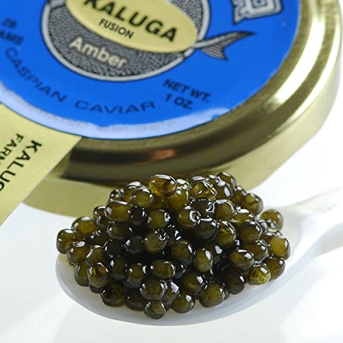 (Fresh Farmed Kaluga Sturgeon Black Caviar - 5.5 oz - Malossol Huso Dauricus )