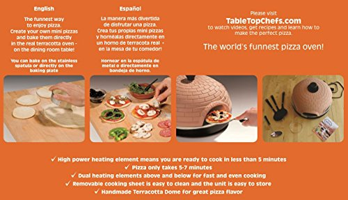 Pizzarette – Funnest 6 Person Model Countertop Europe's Best-Selling Mini Pizza Now Available In The USA Dual Heating Elements