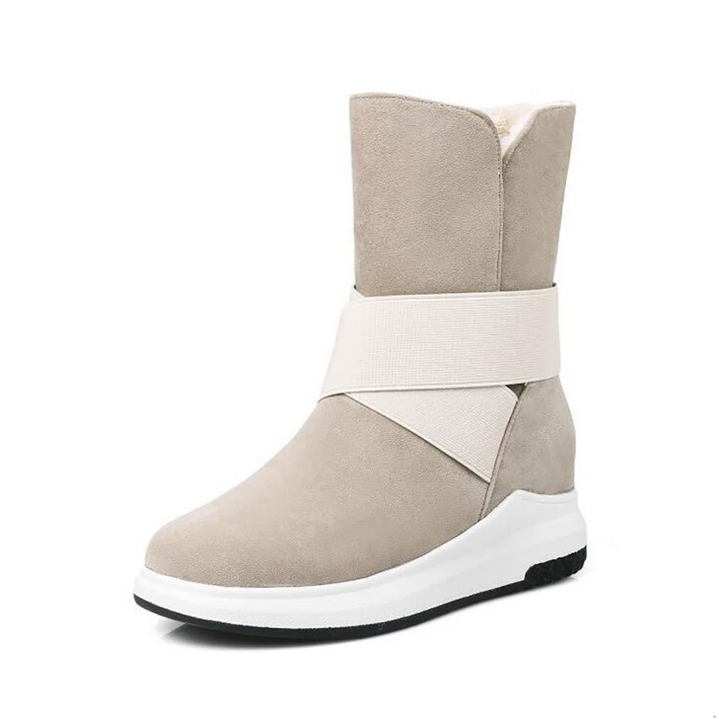 Hy Damens's Stiefelies Winter Flache Comfort Winterstiefel Warme Stiefel Damen Wild Snow Stiefel Stiefel Fashion Stiefelies Student Slip-Ons Outdoor Wanderschuhe (Farbe : B, Größe : 38)