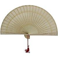 Weixinbuy Aromatic Wood Fan Hollow Hand Fan Home Decoration Wedding Shower Party