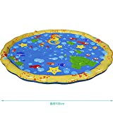 40 in-Diameter Sprinkle and Splash Play Mat for Infants Toddlers and Kids