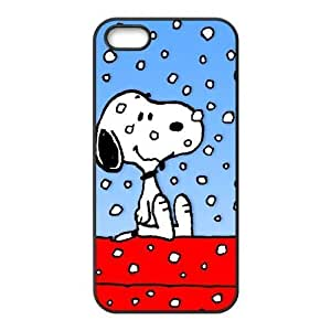 iphone5 5s Cover (Black) ,iphone5 5s phone case for snow snoopy - 1582522122