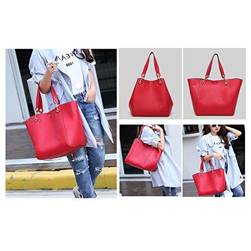 Shoulder Red Clutches Leather Women Tibes Women Bag Bag Tote Fashion Handbags B Bags Shopping Bags XqgBq