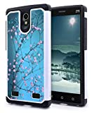 ZTE ZMAX 2 Case, NageBee - Design Premium Heavy Duty Defender Dual Layer Protector Hybrid Phone Cover Case for ZTE ZMAX 2 (Hybrid Plum Blossom)