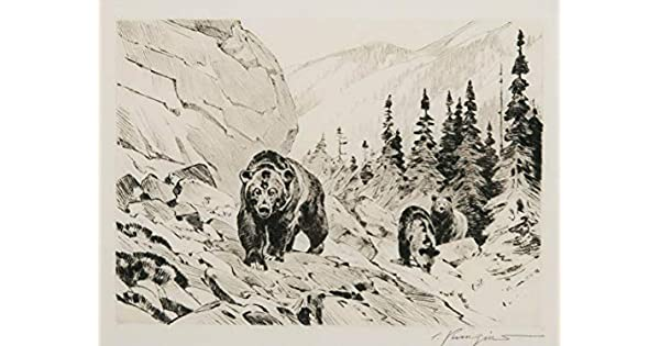 Grizzly Bear   by Carl Rungius   Giclee Canvas Print Repro
