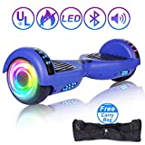 """SISIGAD Hoverboard 6.5"""" Self Balancing Scooter with Colorful LED Wheels Lights Two-Wheels self Balancing Hoverboard Dual 300W Motors Hover Board UL2272 Certified(Free Carry Bag Available)"""