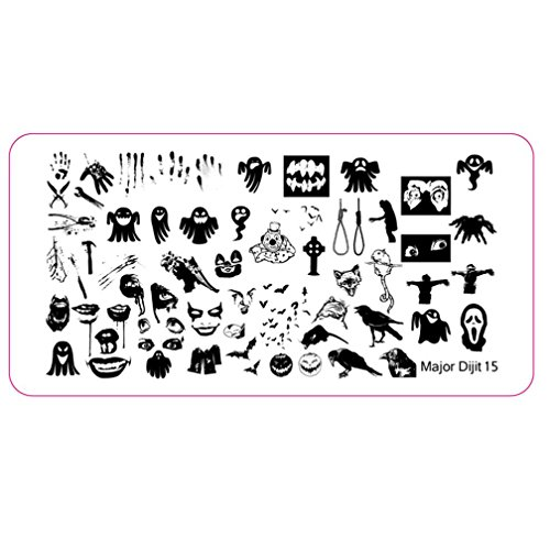 WILLTOO Halloween DIY Nail Art Image Stamp Stamping Plates Manicure Template 07]()
