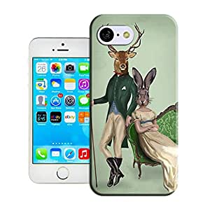 DIY ARTICLE?362.Mr Deer and Mrs Rabbit PosterCustom Unique Plastic Case Creative Art Pattern Cell Phone Case For Iphone5C