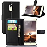 For Xiaomi Redmi Note 3 , Leathlux Premium Litchi Texture PU Leather Magnetic Closure Wallet Case Flip Cover with...