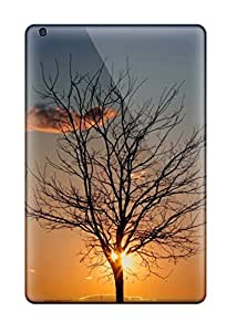 Unique Design Ipad Mini/mini 2 Durable Tpu Case Cover Dark Tree Cloud Sunset Field Amp Digital