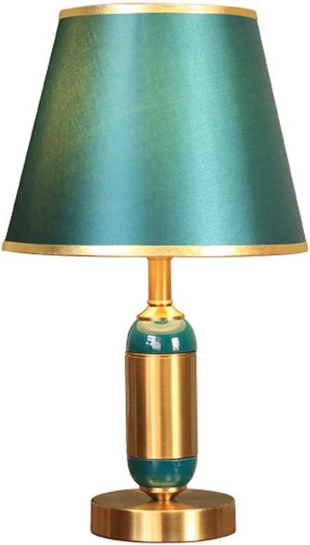 Mesita de noche lámpara de escritorio Lámpara de mesa LED simple Escritorio Lámpara de cerámica del estilo americano extravagante pequeña lámpara de escritorio lámpara de cabecera del dormitorio Estud: Amazon.es: Iluminación