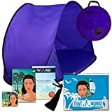 Pluto Purple Haze Tent: Keep Your Toddlers Sheltered From the Sun, Wind & Rain. Portable easy-up Children windproof Cabana for the Beach, Park, Garden or Anywhere Outdoors. Comes with Bonuses