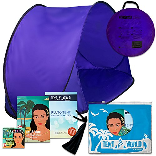 Pluto Purple Haze Tent: Keep Your Toddlers Sheltered From the Sun, Wind & Rain. Portable easy-up Children windproof Cabana for the Beach, Park, Garden or Anywhere Outdoors. Comes with Bonuses by Thermalabs