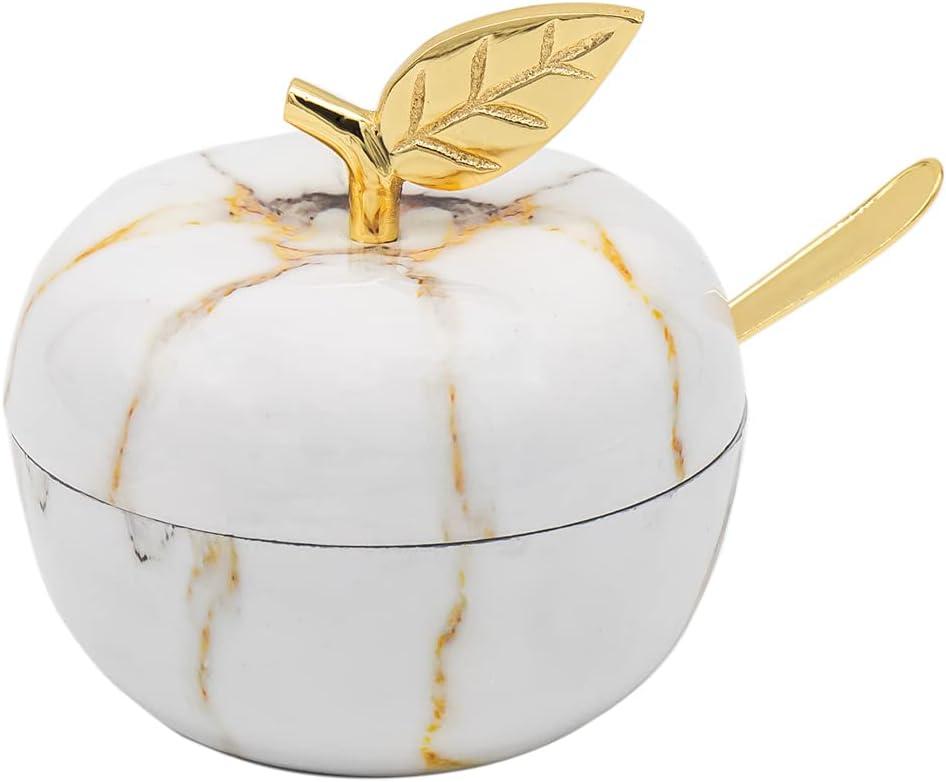 Godinger Apple Honey Dish Jam Jar - Marble Fusion