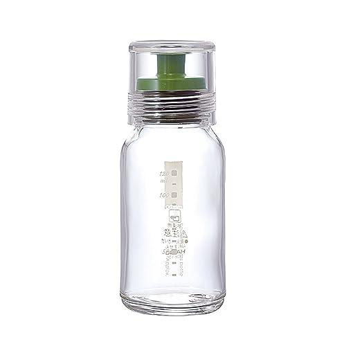 注ぎ口が斜めに設計され、液漏れしにくいオイルポット。使用後もキャップがすぐに閉まるので容器が汚れる心配がなく、オイルの酸化や劣化を防ぎます。耐久性に優れた耐熱ガラスで小鳥のデザインがかわいく、ギフトにもおすすめです。油の使う量が分かりやすい目盛り付きで便利!