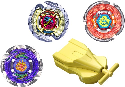 Attack & Balance Set (3 Tops: Killer Gemios, Storm Aquario, Dark Capricorn) BB-56 (BB56) JAPANESE Beyblade Metal Fusion with Launcher