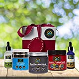 My-Organic-Zone Deluxe-Skin-Care-Gift-Package, Includes 5-Organic-Products for Deep-Pore-Cleansing, Exfoliating, Skin-Tightening, Moisturizing, Anti-Aging, Anti-Wrinkle, Acne-Treatment, Reduce-Cellulite