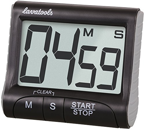 - Lavatools KT1 Digital Kitchen Timer & Stopwatch, Large Digits, Loud Alarm, Magnetic Stand (Black)