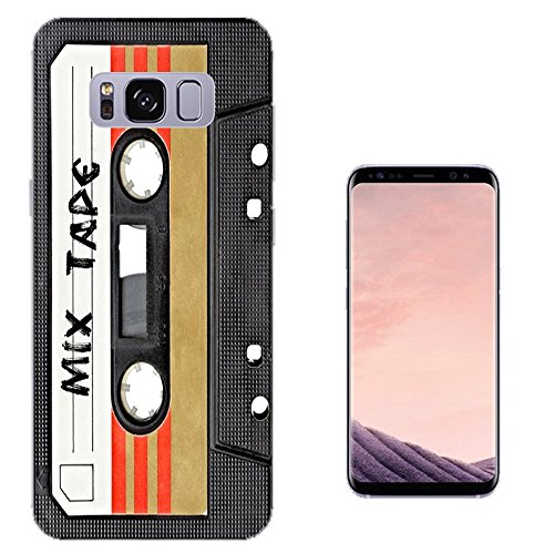 001082 - Cool Fun Mix Tape Cassette Player Retro Music Dance Hip Hop RnB Boom Box Design Samsung Galaxy S8+ Plus CASE Gel Silicone All Edges Protection Case - Hiphop Retro