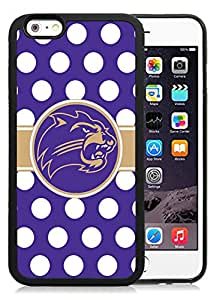 NCAA Southern Conference Football Western Carolina Catamounts 01 Protective Cell Phone TPU Cover Case for Iphone 6 Generation 4.7 Inch Black