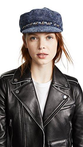 Eugenia Kim Women's Marina Hat, Denim, One Size by Eugenia Kim