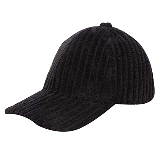 Image Unavailable. Image not available for. Color  Men Women Winter Baseball  Hat Velvet Corduroy Solid Color Cap Casual Adjustable Ponytail ... 5258a5a07409