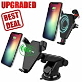 car windshield galaxy note - Qi Wireless Charger by Thrive - Mount/Holder/Cradle For Car Dashboard/Windshield/Air Vent Or Desktop - LOWEST PRICE - iPhone X / 8/ 8 Plus, With Fast Charging For Samsung Galaxy S8/S7/S6 Edge +/Note 5