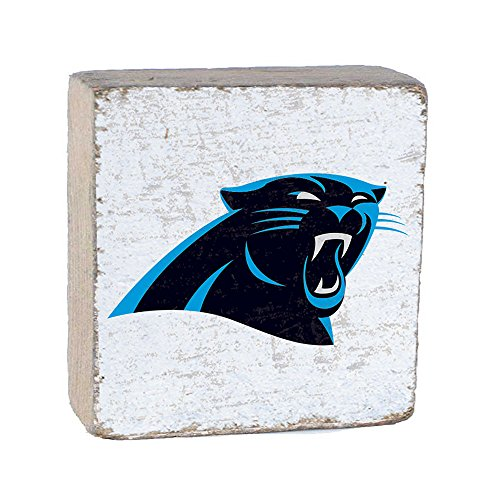NFL Carolina Panthers, White Background Team Logo Block by Rustic Marlin 6