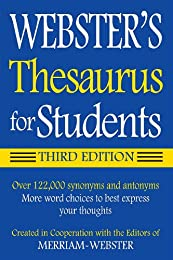 Webster's Thesaurus for Students, New Edition