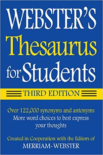 Webster S Federal Street Press Thesaurus For Students 3rd