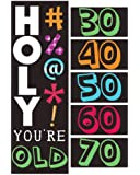 Creative Converting Holy Bleep Giant Party Banner with Customizable Stickers