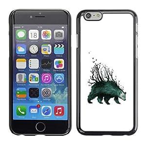 // PHONE CASE GIFT // Duro Estuche protector PC Cáscara Plástico Carcasa Funda Hard Protective Case for iPhone 6 / Tenga Forrest - arte abstracto /