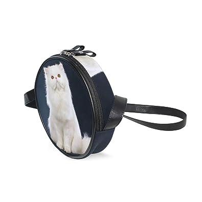 Amazon.com: Bolsas para mujer con diseño de gato blanco y ...