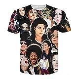 T-shirt 3D Print King of Rock and Roll Michael Jackson Hip Hop Singer Star Rock (S)