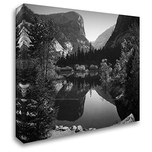 Mirror Lake, Morning, Yosemite National Park 24x20 Gallery Wrapped Stretched Canvas Art by Ansel Adams (Ansel Adams Gallery Yosemite National Park)
