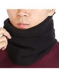 GLOGLOW Cuello de esquí, Tres Colores, Bufanda de Tubo, Sombrero Ajustable, Tapa, Cara, Cuello, máscara, más cálido para el Aire Libre (Negro)