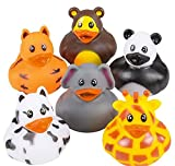 "2"" ZOO ANIMAL RUBBER DUCKIES. 12 PIECES"