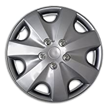TuningPros WSC2-051S16 Hubcaps Wheel Skin Cover Type 2 16-Inches Silver Set of 4