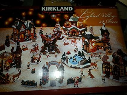 kirkland signature lighted village 32 pieces