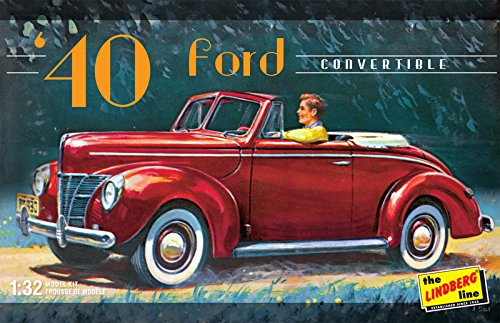 Lindberg Models 1:32 Scale 1940 Ford Convertible Model Kit